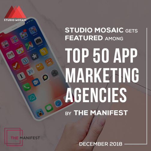 Studio Mosaic Gets Featured Among Top 50 App Marketing